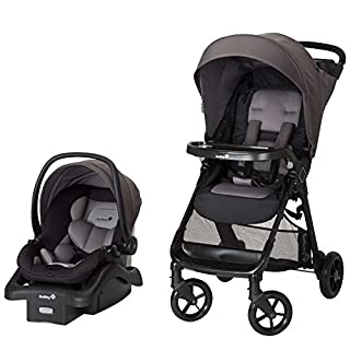The Safety 1st Smooth Ride Travel System with OnBoard 35 LT Infant Car Seat lets your baby ride with comfort and style. This all-in-one travel system allows for a seamless transition from car to stroller. QuickClick technology secures the LATCH-equip...