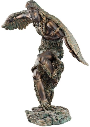 - Native American Eagle Dancer Bronze Finished Statue