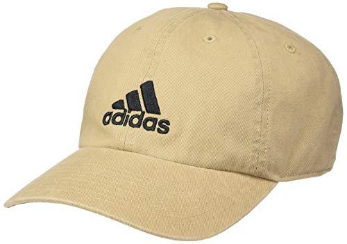 adidas Men's Ultimate Relaxed Adjustable Cap, Washed Khaki/Black, One Size