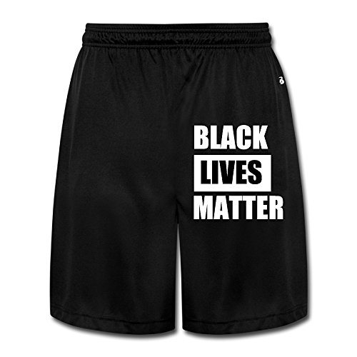 Men's Cool BLACK LIVES MATTER Short Sweatpants Black Size L