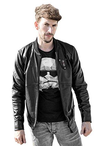 Musterbrand Star Wars Lederjacke Herren Tie Pilot Limited Edition High Quality Schwarz
