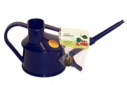 Haws Handy Indoor Plastic Watering Can, Dark Blue, 1 US Pint