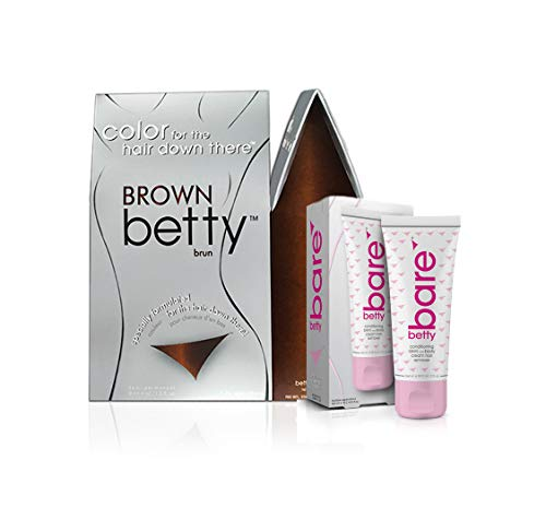 - Brown Betty - Color for the Hair Down There Kit with BettyBare Hair Remover Cream