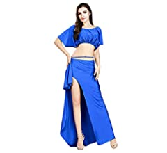 Amazon.com: ROYAL SMEELA Belly Dance Costume for Women Belly ...