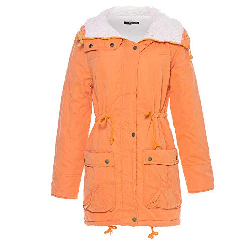 Orange Capuche Greatestpak Veste Chaud Manteau Grande Taille