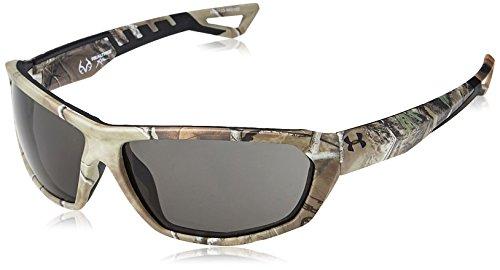 Under Armour Men's Wrap Sunglasses, UA RAGE (ANSI) SATIN REALTREE XTRA/BLACK FRAME/GRAY LENS, 63 mm ()