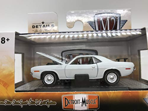 M2 Machines Detroit-Muscle 1971 Plymouth HEMI Cuda R39 17-55 White Details Like NO Other! 1 of 5880 (Muscle Machines)