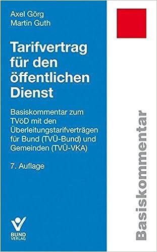 Tarifvertrag Für Den öffentlichen Dienst Basiskommentar Zum Tvöd