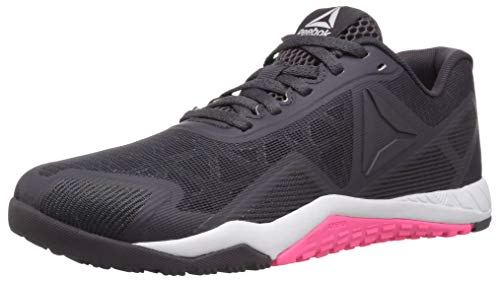 Reebok Women's ROS Workout TR 2.0 Sneaker, Smoky Volcano/White/Acid Pink, 8 M US