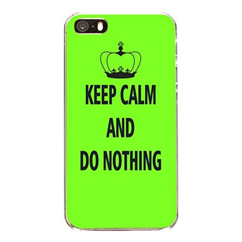 "Disagu Design Case Coque pour Apple iPhone 5s Housse etui coque pochette ""KEEP CALM AND DO NOTHING"""
