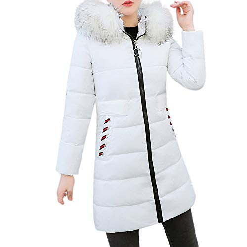 Price comparison product image Clearance Sale for Coat.AIMTOPPY Women Winter Warm Coat Faux Fur Hooded Thick Slim Down Jacket Long Overcoat