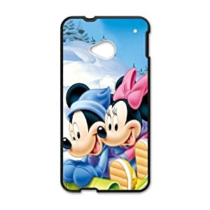 Personalized Durable Cases Fmats HTC One M7 Black Phone Case Lovely Mickey Mouse Cute Protection Cover
