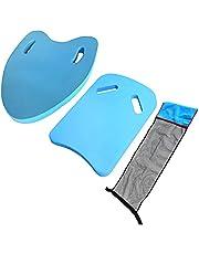 LYEAA 3 st barn vuxna simning kickboard-set, 2 st träningshjälp flytbräda med EVA flytande kickboard stolskydd barn vuxna simning träning stöd nybörjare