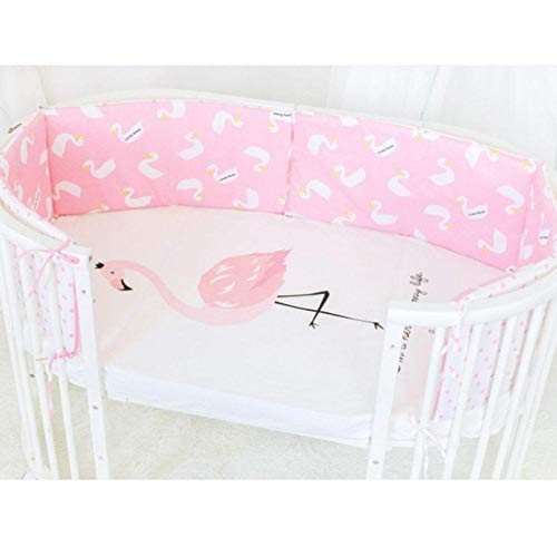 TRULIL Baby Cot Bumper Wrap Around Protection for Babys Bed With Head Guard hypo-Allergenic Long Bumper Cotton Breathable Cot Bumper Safety Collision Barrier Cotton Pillow for Standard Cribs