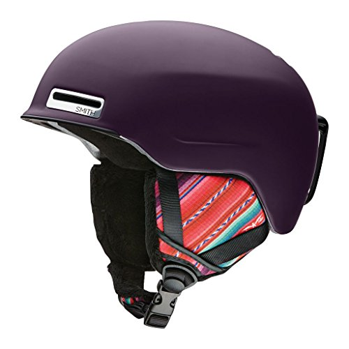 Smith Optics Allure Adult Ski Snowmobile Helmet - Matte Black Cherry Cuzco / - Black Beanie Cherry