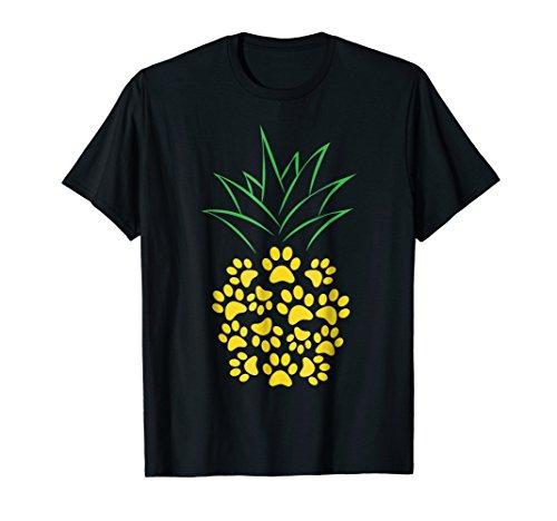 Cute Dog Paw Pineapple Tshirt