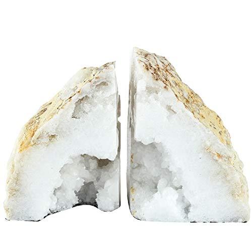 A&B Home 40068 Natural Geode Bookends Set of 2 by A&B Home