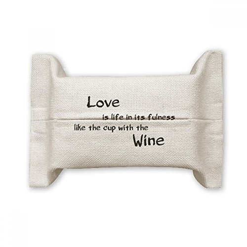 - DIYthinker Famous Poetry Quote Love Like Wine Cotton Linen Tissue Paper Cover Holder Storage Container Gift