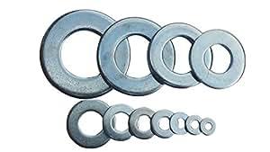 #8 SAE Steel Flat Washers - Qty: 1000 (Zinc Plated)
