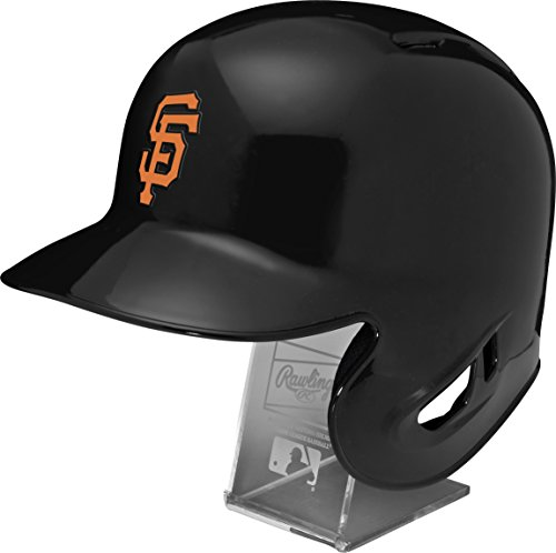 Rawlings MLB San Francisco Giants Replica Batting Helmet with Engraved Stand, Official Size, Black