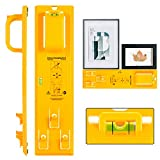 Picture Hanging Tool with Level Easy Frame Picture Hanger Wall Hanging Kit (Yellow): more info