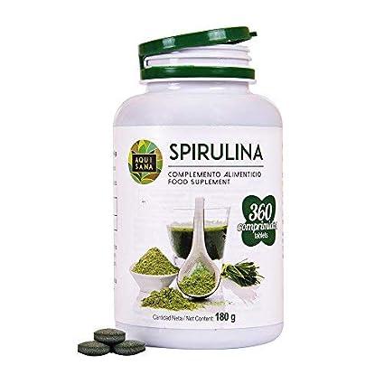Espirulina -Aquisana -Comprimidos | Aporte de Vitaminas y Proteinas | Ayuda a mejorar el Rendimiento Físico | Mayor Energía y Vitalidad| Libre de ...