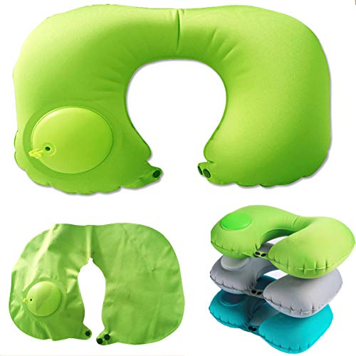 AMAZBOX Inflatable Neck Pillow Travel Adjustable Comfortable