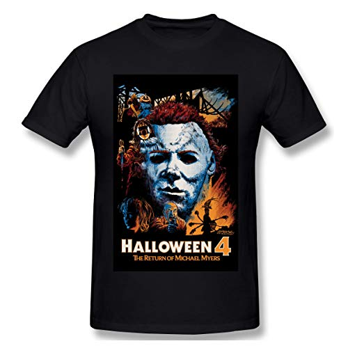 BTBANIN Halloween 4 The Return of Michael Myers Man Fashionable Shirts M Black]()
