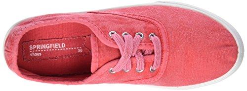 Damen Canvas Sneaker T Schuhe Washed 4 Springfield PINKS rosa dwPZq6Yw