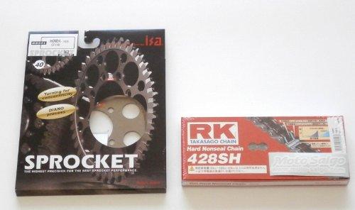 CT110(Pモデル)用 ISAアルミスプロケット 40T & RK 428SH 102L セット   B0092KCZZ2