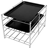 Signature Kitchen Shop - High Quality - 3 Level Oven Rack - Comes with Two Non Stick Baking Sheets - Makes a Great Cooling Rack As Well