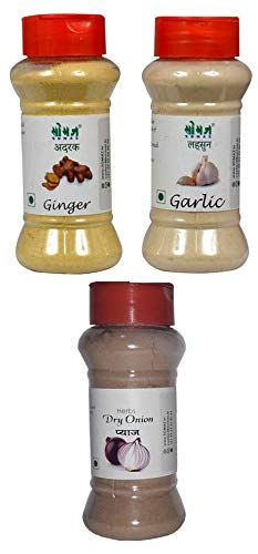 SOMAZ Ginger Garlic Onion Powder Combo 60 gm Each No Artificial Colors, Flavors Or Preservatives (B07G2GWPNJ) Amazon Price History, Amazon Price Tracker