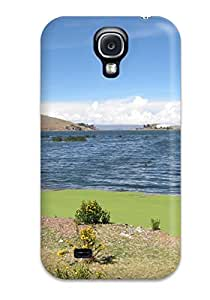 New Style Durable Defender Case For Galaxy S4 Tpu Cover(titicaca Lake)