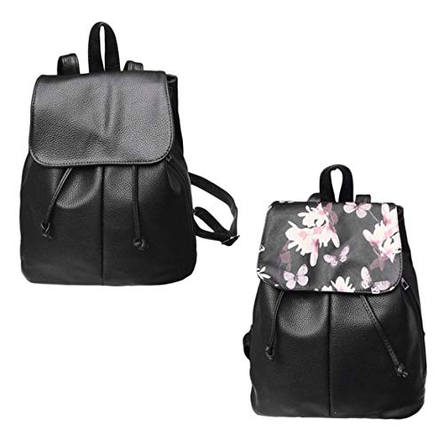da Soft floreale Teenagers Leather Simple Casual tracolla Scuola Women Pu a Harlls Borsa femminile Fashion viaggioColore Zaino 9EHID2