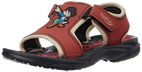 Footfun (from Liberty) Unisex Jimmy-01 Red Floaters - 1 UK/India (33 EU)