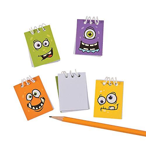 Fun Express - Monster Face Mini Notepads for Halloween - Stationery - Notepads - Notepads - Halloween - 48 Pieces