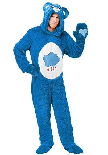 Adult Plus Size Care Bears Classic Grumpy Bear Costume 2X - Grumpy Bear Costume