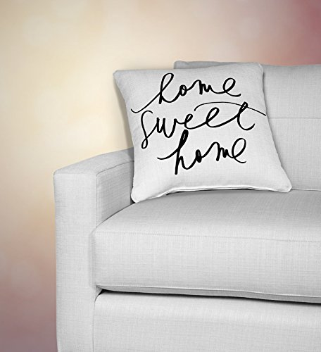 Home Sweet Home Throw Pillow, Calligraphy, Home Décor, Wedding Gift, Engagement Present, Housewarming Gift, Cushion Cover, Throw Pillow, Christmas Gift (Rings Christmas Countdown)