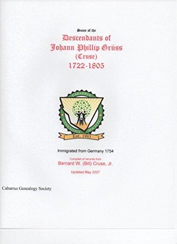 Descendants of Johann Phillip Grüss (Cruse)