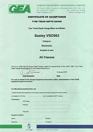 Sealey Vs0563/Digital Tyre Tread Jauge de Profondeur