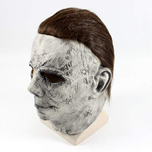 Halloween Costume Film Michael Myers Role Cos Head Deluxe Horror -