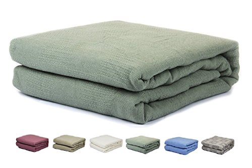 Green Cotton Thermal Hospital Blanket