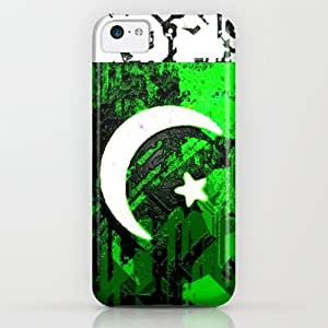Circuit Board Pakistan (flag) iPhone & iphone 5c Case by Seb Mcnulty