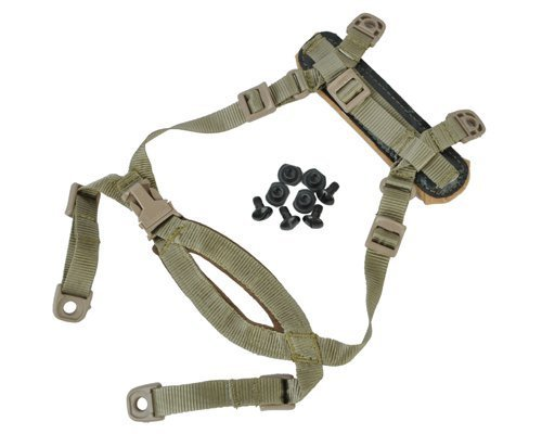 - FMA TB269 4 Points Tactical Helmet Accessories Retention System Chin Strap with Bolts and Screws for Mich ACH Fast IBH Helmet tan