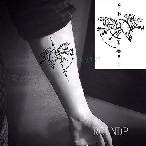 5pcs Impermeable del Tatuaje Pegatinas Compás TATOUAGE Tatto ...