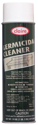 Claire C-873 19 Oz. Germicidal Cleaner Aerosol Can (Case of - Germicidal Industrial Cleaner