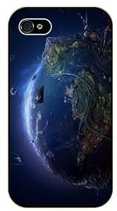 iPhone 5 / 5s 3D Earth - black plastic case / Space, Stars, Fantasy hjbrhga1544