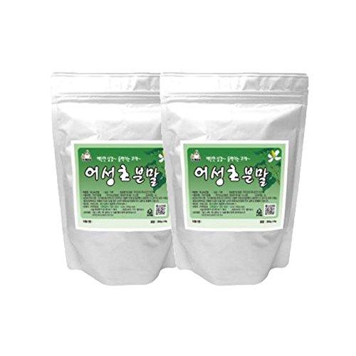 Houttuynia Cordata Powder 2pack 100% Natural Medicinal Herbs Fish Mint Dokudami Yuxingcao 어성초 300g(10.5oz)
