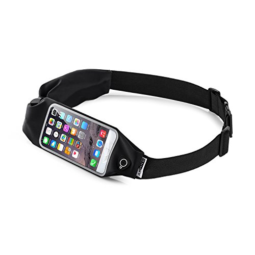 Top Fit Running Belt for Men + Women, Dual Pockets with Touch Screen, Holds all IPhones + Accessories, Completely Comfortable Running Belt for Running or Hiking. New (Dual - Top Mens Running