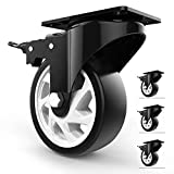 """Homhoo 5"""" Swivel Caster Wheels with Safety Dual"""
